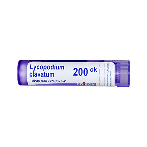 Boiron Lycopodium Clavatum 200CK, 80 Pellets, Homeopathic Medicine for Bloating and Gas