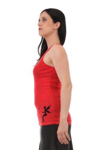 Roso camicia Girocollostampa estiva Donna farfalla di 3Elfen fata Nero 0gqPw5d