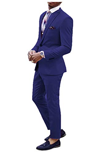 Jingmo Men's 2 Piece Suit Set Custom Made Slim Fit Suits for Men by Jingmo