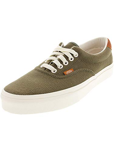 """Vans Off The Wall Flannel Era 59"""" Sneakers (Dusty Olive) Skateboard Shoes"""