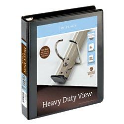 Avery(R) Heavy-Duty EZD Locking D-Ring View Binder, 1 1/2in. Ring, Black