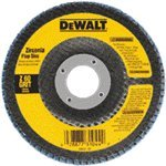 Dewalt DW8306 4-1/2-Inch by 7/8-Inch 36 Grit Zirconia Angle Grinder Flap Disc 10 Pack