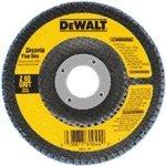 Dewalt DW8306 4-1/2-Inch by 7/8-Inch 36 Grit Zirconia Angle Grinder Flap Disc 10 Pack