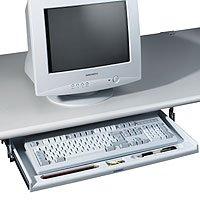 Ausziehbare Tastaturschublade, PC-grau