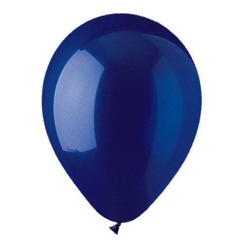 12 Inch Latex Balloons Crystal - CTI Balloons Latex Balloons 912837 Crystal Navy Blue (10 Pk), 12