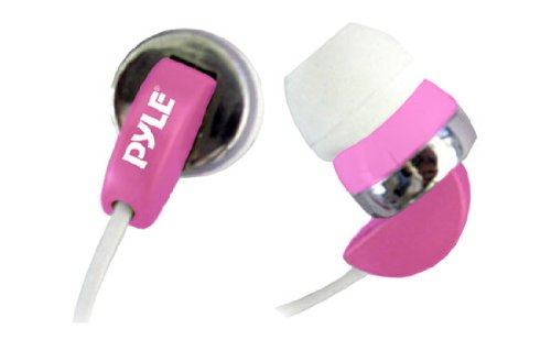 Pyle PIEH40P Ultra Slim Super Bass In-Ear Earbud Stereo Headphones for iPod/MP3/Any Media Player ( Pink)