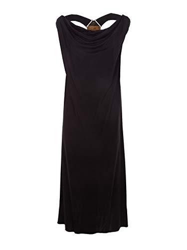 Poliéster Versace Mujer Bd01104bj20664b1008 Negro Versus Vestido wIIq86r