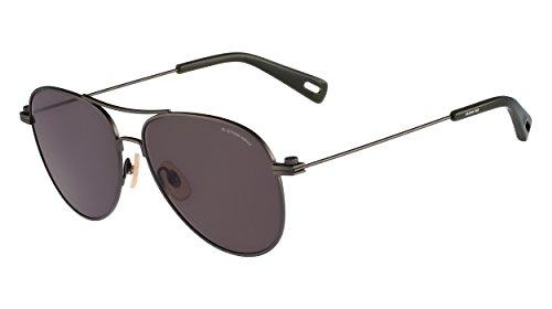 G-Star Raw GS104S Aviator Sunglasses, Dark Gunmetal Semi Matte, 58 mm (Sniper Eyewear Protective)