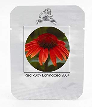 VISTARIC Heirloom Red Ruby Echinacea Perennial Coneflower Seeds, Professional Pack, 200 Seeds/Pack, Very Beautiful Long Lasting