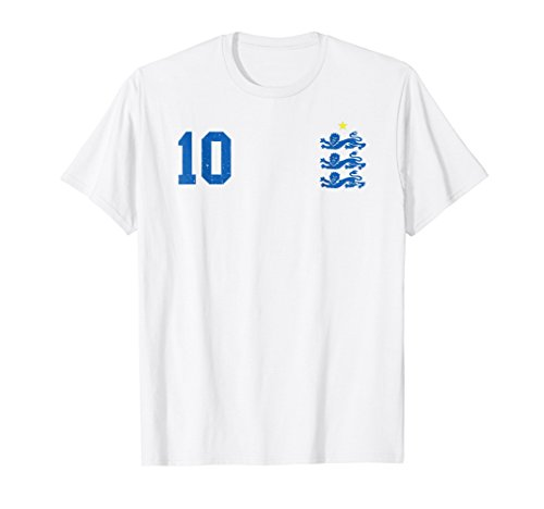 Retro England Football Jersey England Soccer TShirt Lions 10