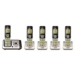 VTech(R) CS6729-5 DECT 6.0 Cordless Phone System With Digital Answering Machine Dect 6.0 Cordless Phone Systems