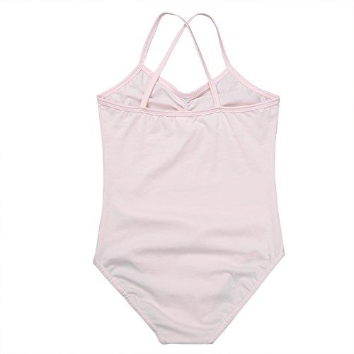 TiaoBug Cross Girls Dancer Ballet Strap Spaghetti Dress Leotard Criss Pink Kids gwr4Sg
