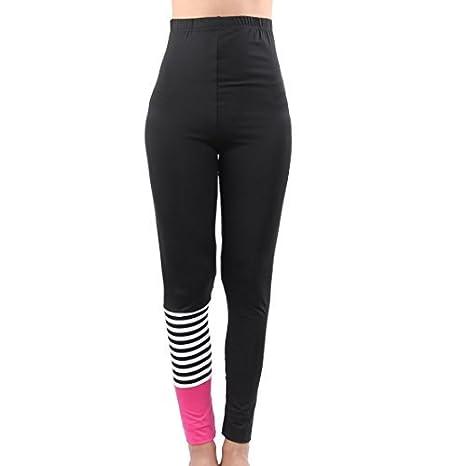 a64097712b9cf eDealMax Femmes Sport Athlétisme Gym Exercise Stretchy Pantalon de yoga  Polyester Legging Pantalons - - Amazon.com