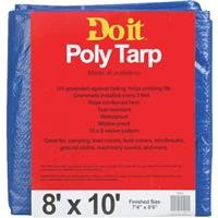 Med Duty Tarp (Dynatech International Inc.: 8X10 Blue Med Duty Tarp 700541 -2Pk)