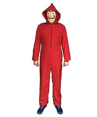 LBA Disfraz inspirado en una famosa serie de televisión. No es el ORIGINAL. Disfraz compuesto de Mono rojo y Máscara. (S - 42)