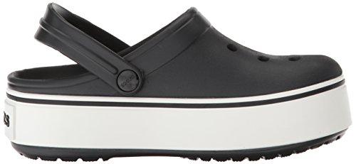 Crocs White Crocband Clog Black Platform z1rPz