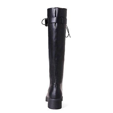 Cm Da 7 Finta Lacci Donna Gll Stivaletti Heel Stivali Inverno Autunno 5 Blocco Verde Nero Casual Pelle Militare Gray Grigio amp;xuezi Di Formale 50RRw1