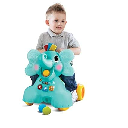 Adorable,Versatile and Fun Ollie 3-in-1 Sit,Walk /& Ride Elephant,with 50 Melodies,Songs,Phrases,Lights /& Activities,Soft Touch Ears and Fabric Hair Tufts That Crinkle and Squeak for Kids UnAssigned