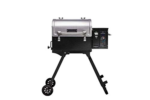 Camp Chef Pursuit 20 Portable Pellet Grill Smoker, Stainless Steel (PPG20) - Smart Smoke - Slide and Grill Technology