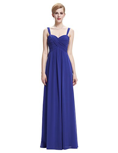Belle Poque Long Sweetheart Bridesmaid Dresses Ruched Bodice Blue Size 8 (Ruched Bodice Gown)
