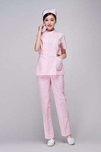 Xuanku OEM Mujeres Enfermería Médica De Enfermería Matorrales Conjunto Uniforme Medico Diseño Slim Fit, Rosa, XXXL: Amazon.es: Ropa y accesorios
