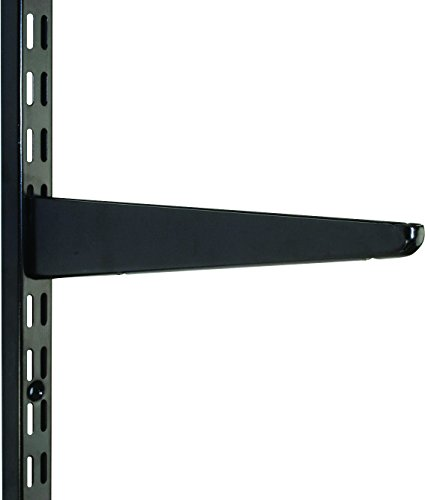 120mm Black Watson Twin Slot Shelving Bracket by Watson Lok Twin Slot Shelving (Slot Twin Bracket)