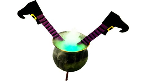 Halloween Decoration Smoking Witches Cauldron Humidifier with LED