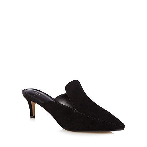 J by Jasper Conran Womens Black Leather 'Jerry' Mules BBiRZYazm2