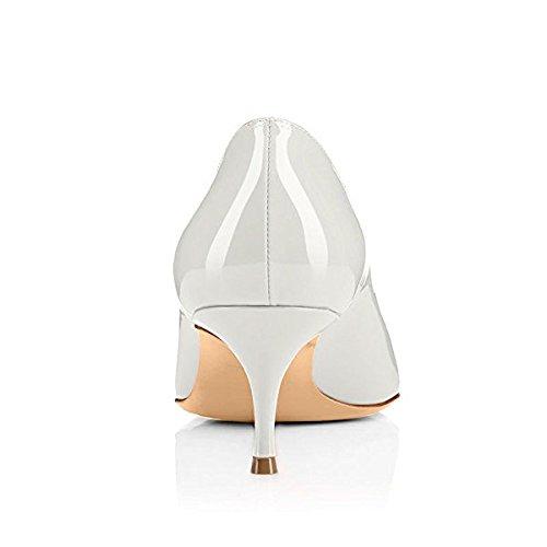 Moyen Chaussures Soiree Soireelady Talon Club White Femme Escarpins Bureau À Élégante SnSpUITwq