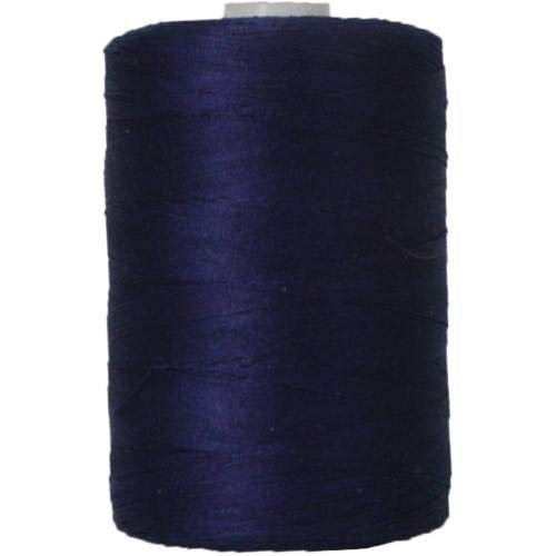 Threadart 100% Cotton Thread | Color DK BLUE | For Quilting, Sewing, and Serging | 1000M Spools 50/3 Weight | 50 Colors Available