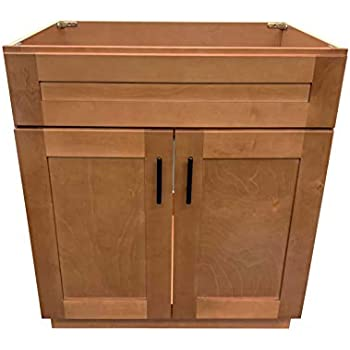 New Maple Shaker Single Bathroom Vanity Base Cabinet 30 Quot W