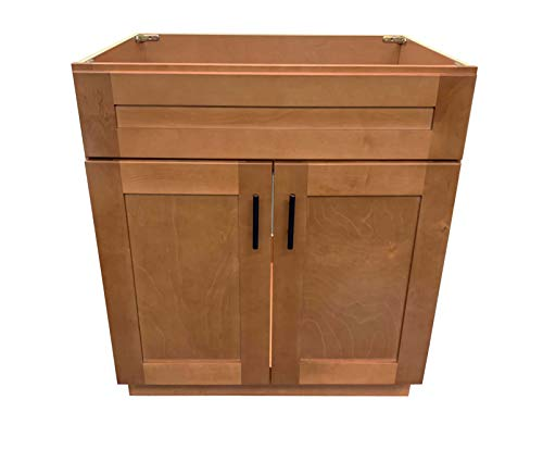 New Maple Shaker Single Bathroom Vanity Base Cabinet 24