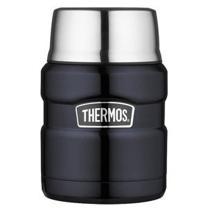 The Amazing Quality Thermos Stainless King™ Vacuum Insulated Food Jar - 16 oz. - Stainless Steel/Midnight Blue