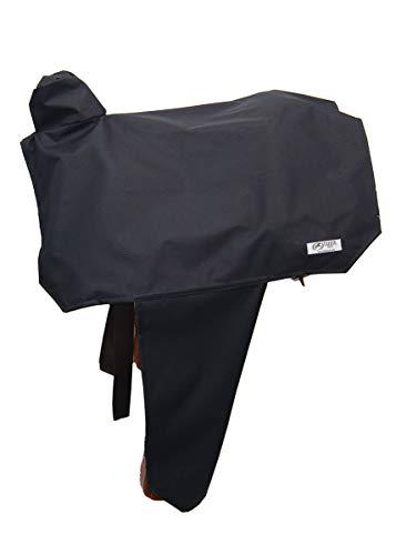 Tahoe Premium Nylon Waterproof Western Saddle Cover, Black