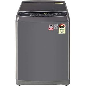 LG 8 Kg 5 Star Inverter Fully-Automatic Top Loading Washing Machine (T80SJMB1Z, Middle Black, Jet Spray+)