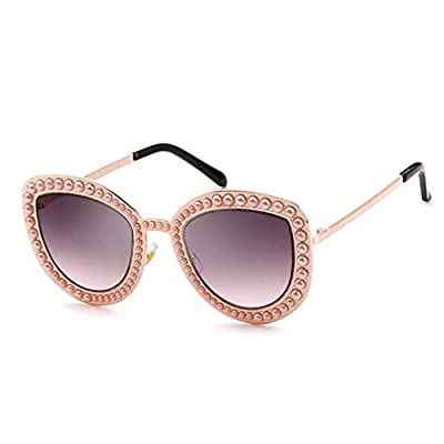 NEW Pearl Embellished Cat Eye Sunglasses Women Vintage Metal Gold Sun Glasses Shades 534