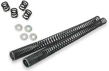 Progressive Suspension Fork Lowering Kit For Harley Davidson FXD/FXDB/FXDC 2007-2010 / FXDBI/FXDCI/FXDI/FXDI35/FXDLI/FXDWGI 2006 / FXDF 2008-2010 / FXDL 2007-2009 / FXDWG 2007 / FXDWG 2007-2008, 2010 - Pair Fork Springs - Black - 10-1566