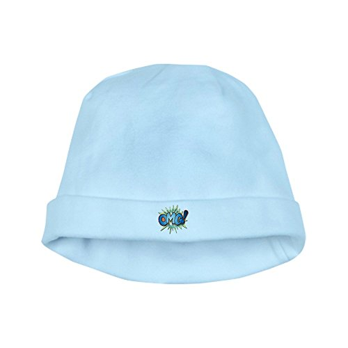 Truly Teague Baby Hat Text Abbreviation OMG! - Sky -