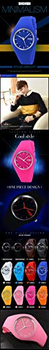 Skmei Fashion Trends Korean Version of The Silica Gel Quartz Ultra-Thin fine Gift Watches(12 Styles) (Rose red) by SKMEI (Image #2)