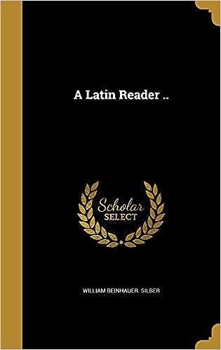 Book A Latin Reader ..