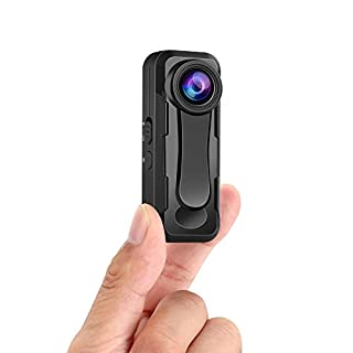 W1 Small Body Camera, BOBLOV Small Hidden Body Camera, True 1080P High Video Sensor, Easy to Set up and Time Stamp On/Off Optional Lightweight for Hiking, Bicycle, Lecture, Self-Protection, Outdoor