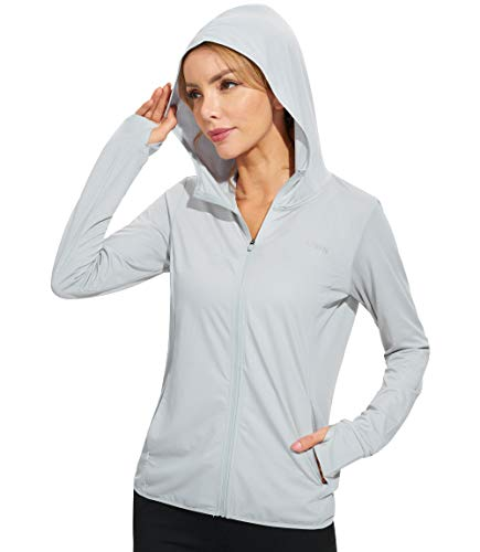 Libin Women's Full Zip UPF 50+ Sun Protection Hoodie Jacket Long Sleeve Sun Shirt Hiking Outdoor Performance with Pockets