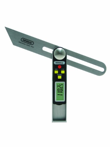 General Tools 828 Digital Sliding T-Bevel Gauge & Digital Protractor in One