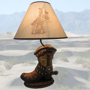 """Cowboy's Pride"" Western Boot Lamp Cowboy Gifts"