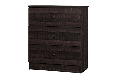 Wholesale Interiors Decon Wood 3 Drawer Storage Chest, Espresso Brown by Wholesale Interiors