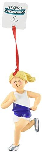 Ornament Central OC-165-FBL Female Blonde Runner Figurine (Ornament Runner Christmas)
