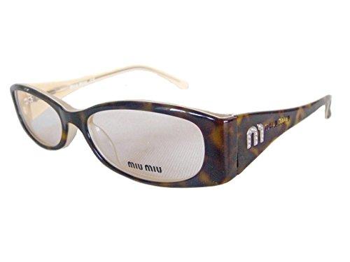 Ex Display MIU MIU by Prada SMU 13DV 8AN 1O1 Glasses Spectacles Eyeglasses - Tortoiseshell Spectacle Frames