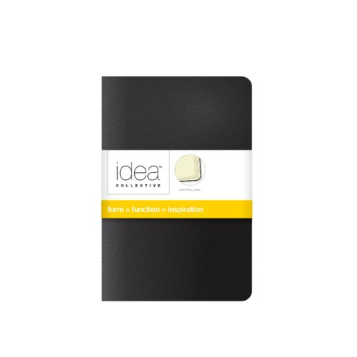 TOPS Idea Collective Mini Softcover Journals, Wide Rule, Cream Paper, 5.5 x 3.5 Inches, 80 Pages, 2-Pack, Black Covers (56877)