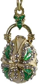 Faberge Style Egg Pendant BUTTERFLY (03277GR)