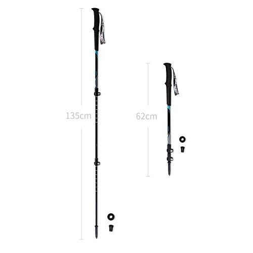 Zenph Ultralight Carbon Fiber Trekking Pole, Anti Shock Hiking Walking Trekking Trail Poles for Hiking, Camping, Mountaining, Backpacking 1 Pack